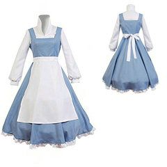 Disney Beauty and the Beast Belle Maid Dress Cosplay Costume  sc 1 st  Pinterest & Disney Beauty and the Beast Belle Maid Dress Cosplay Costume ...