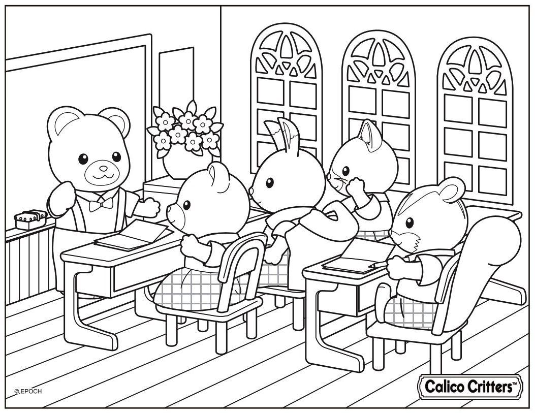 Calico Critters Teacher Arthur Cuddle Bear Teaches