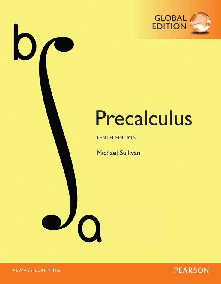 Precalculus 10th 10e Global Michael Sullivan Pdf Textbook