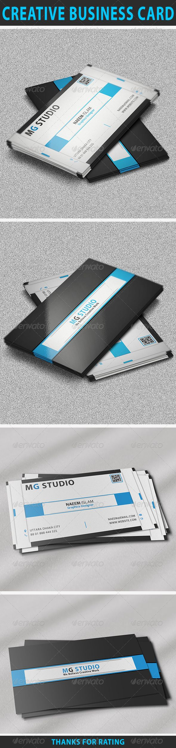 Creative business card pinterest business cards adobe photoshop creative business card features easy to edit optimized for printing 300 dpi cmyk color mode 352 inch dimension 025 bleed reheart Images