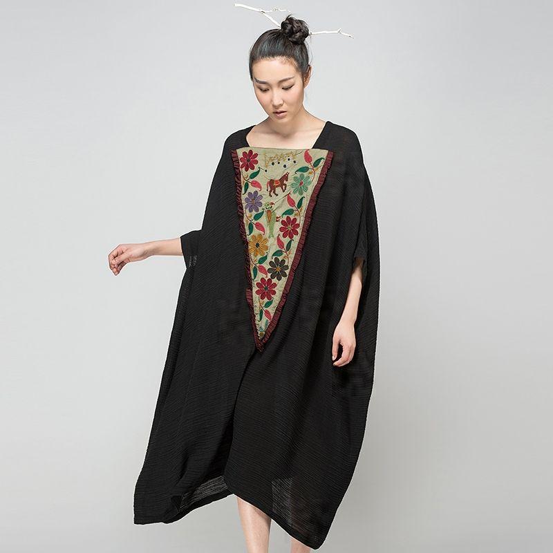 7e9de0e91 Encontrar Más Vestidos Información acerca de Jiqiuguer marca para mujer  Vintage apliques vestidos media manga vestidos