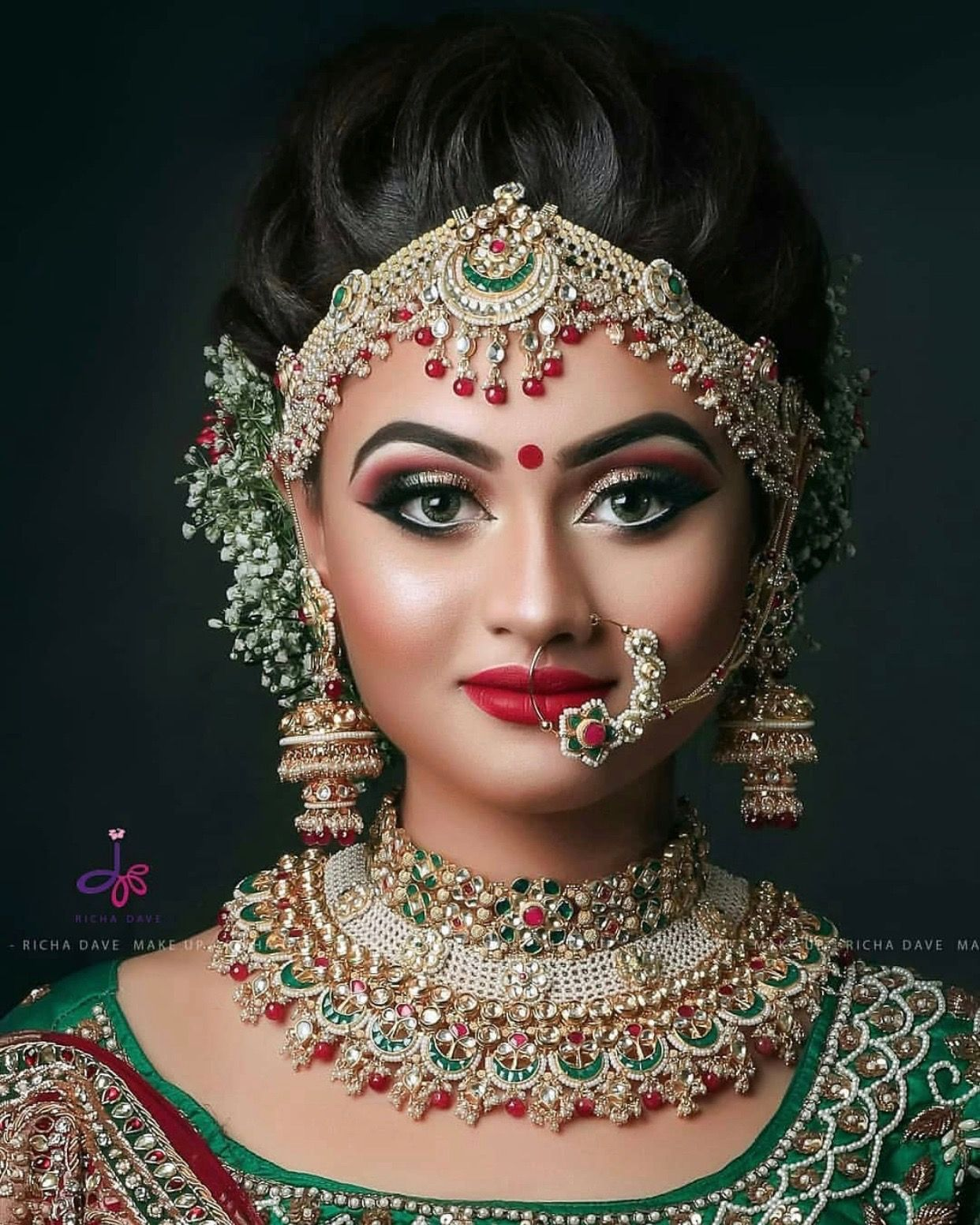 Perfect look to Indian brodal Bridal makeup looks