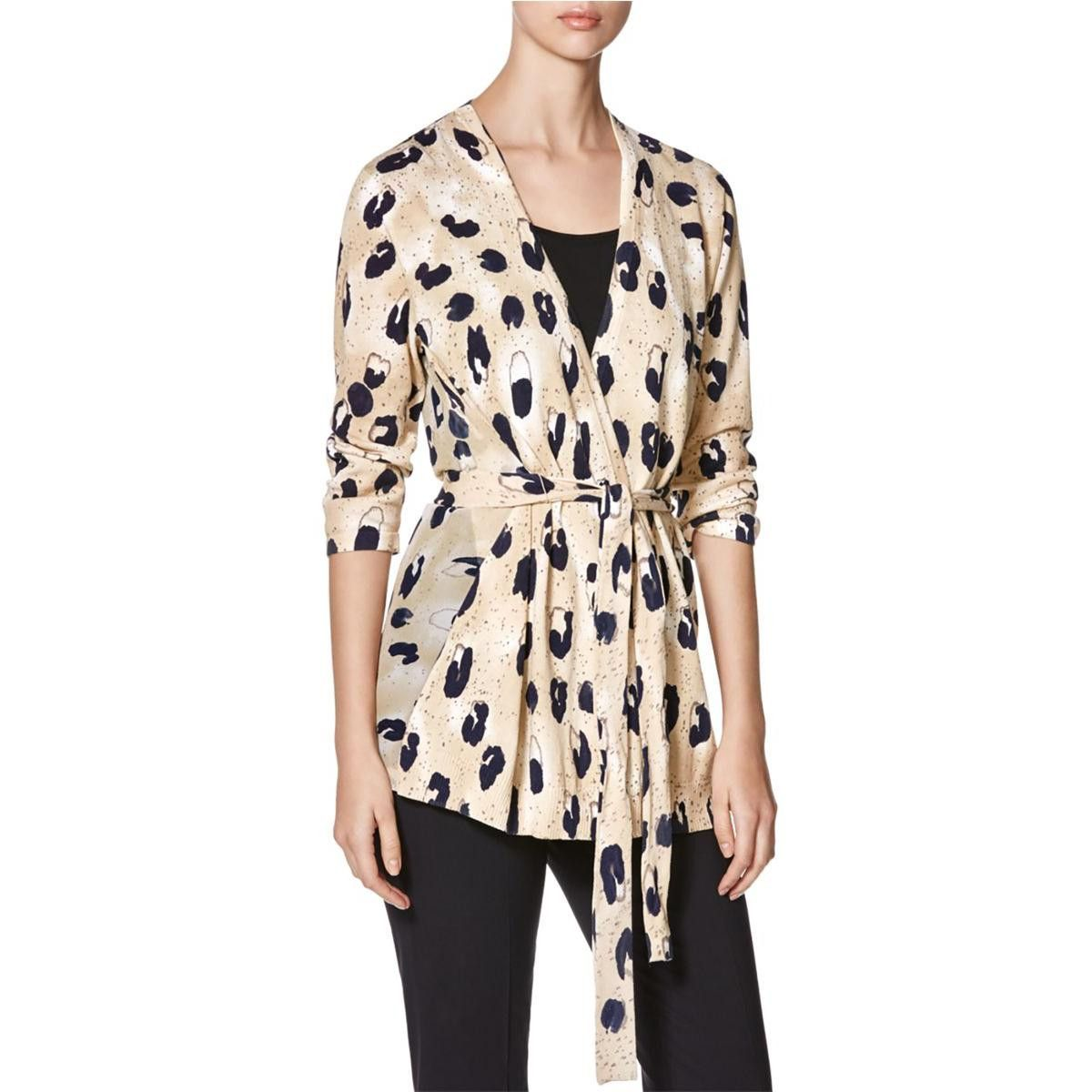 Womens Silk Animal Print Cardigan Top | Tops, Products and Cardigans