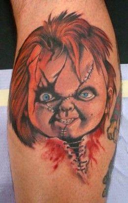 45b62ded4 Chucky With Knife Tattoo Chucky face tattoos chucky   Chucky Tattoos ...