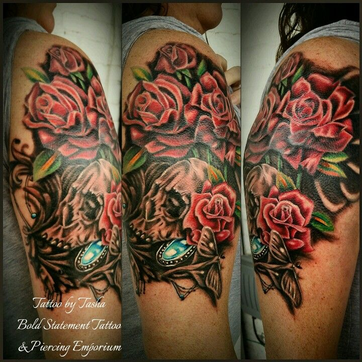 Halfsleeve coverup love how it turned out tattoo