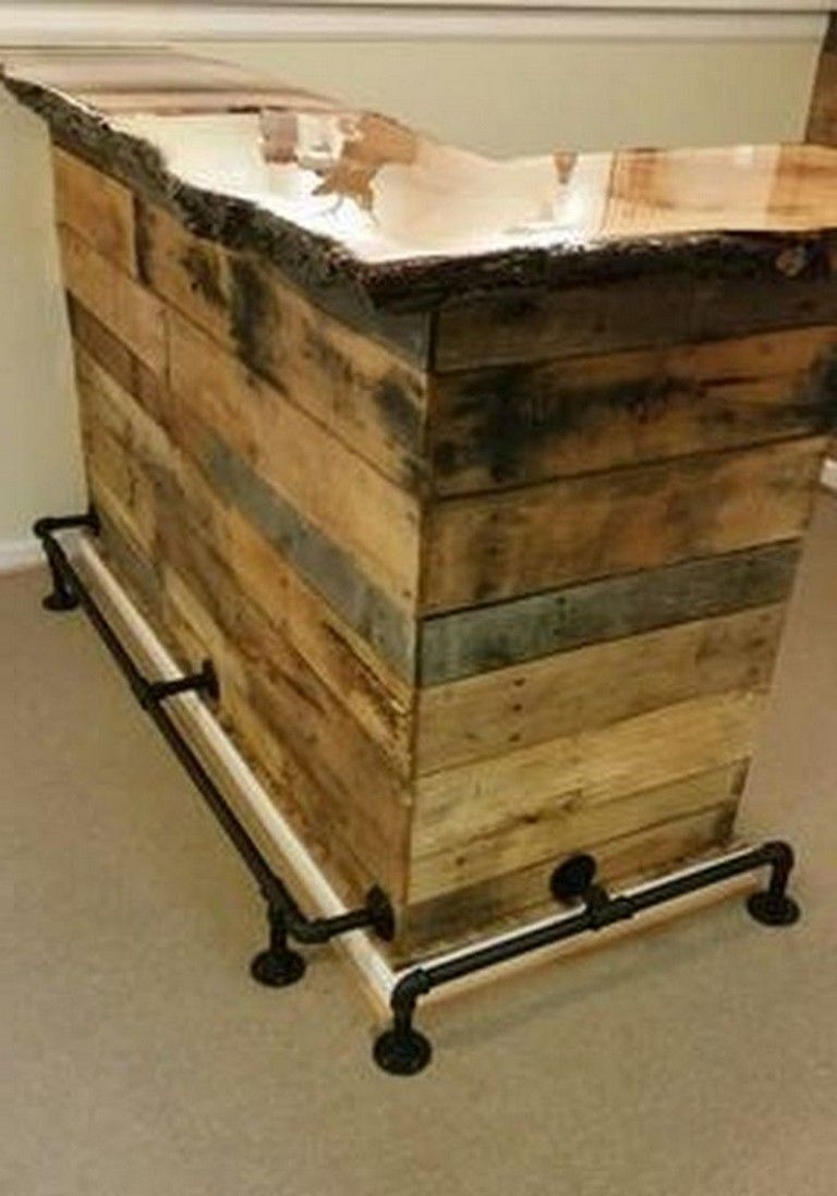 30 Smart Diy Wooden Pallet Bar Designs That Easy To Make
