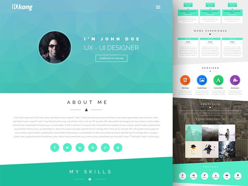 Kong Template | Template, Portfolio website and Website
