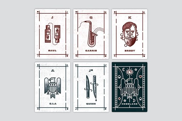 Homeland Playing Card Illustrations on Behance