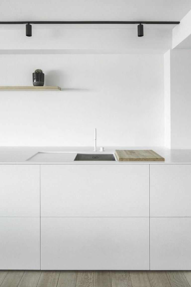 44+ Nice Modern White Kitchen Design Ideas #minimalkitchen