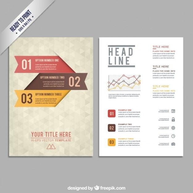 Brochure template with geometric pattern BG/Graphic Pinterest