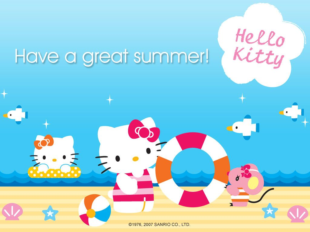 Hello Kitty Summer Desktop Wallpaper Wallpapersafari Hello Kitty Hello Kitty Wallpaper Free Hello Kitty Wallpaper