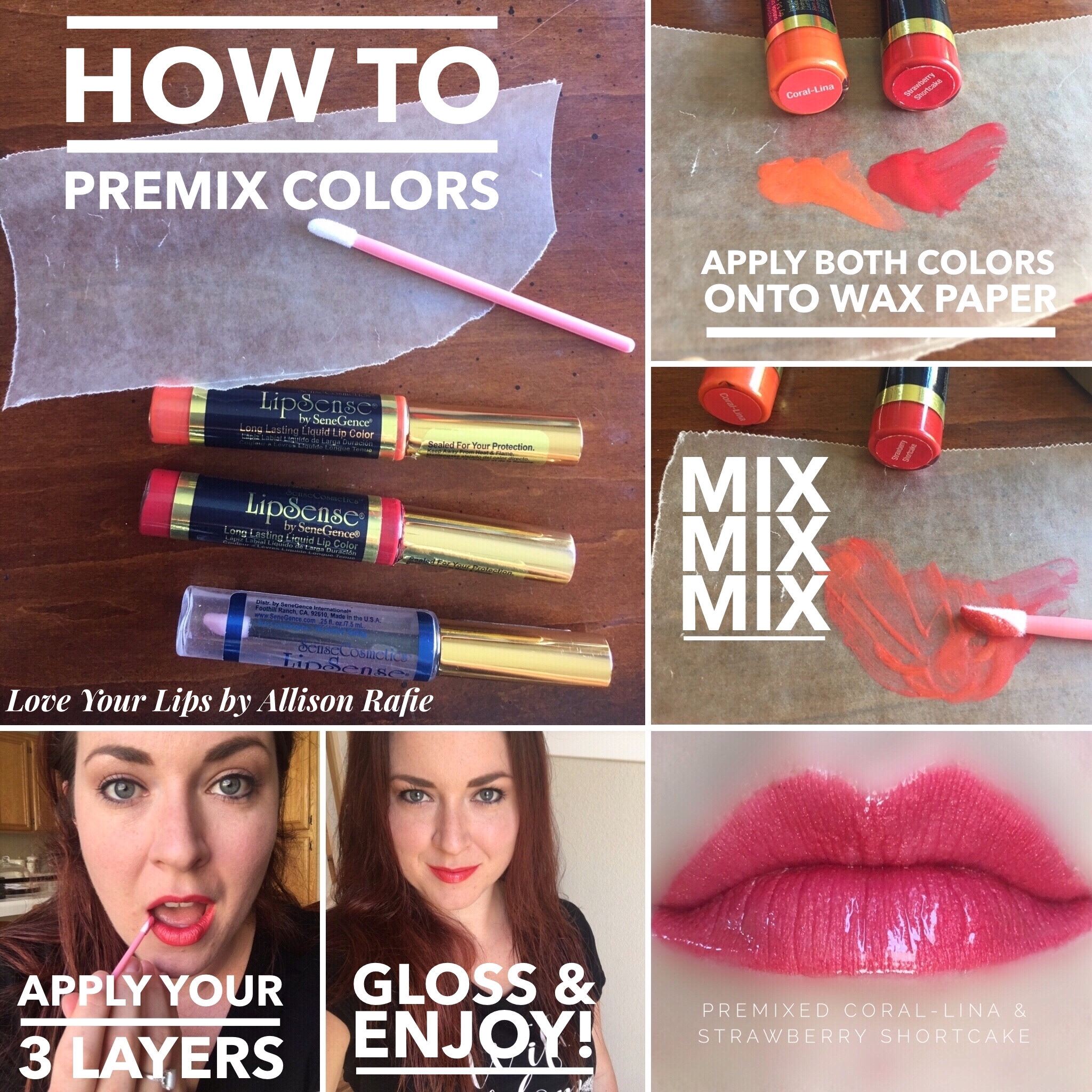 How to premix LipSense Colors #corallina #strawberryshortcake Distributer #328364 Love Your Lips by Allison Rafie Follow me on Instagram @luvurlips www.facebook.com/groups/loveyourlipsbyallisonrafie