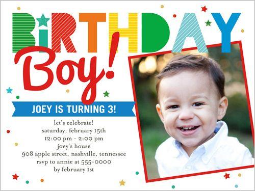 B Teen Birthday Invitations Invites 4 Year Old Boy Printing Stationery