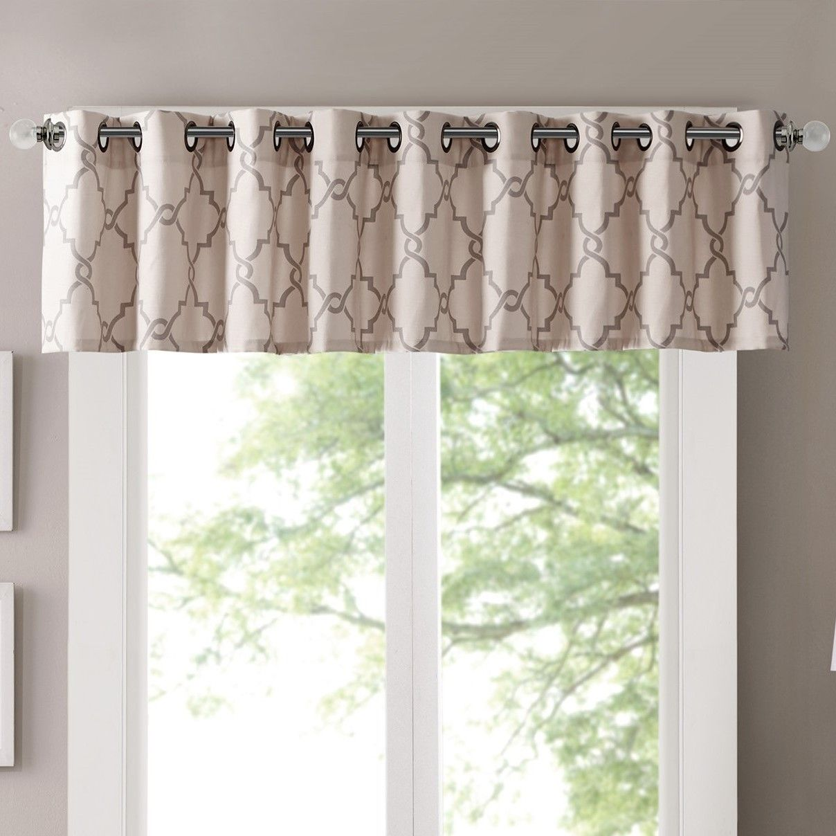 Winnie Trellis Grommet Curtain Valance | Grommet curtains, Curtain ... for Grommet Curtains With Valance  173lyp