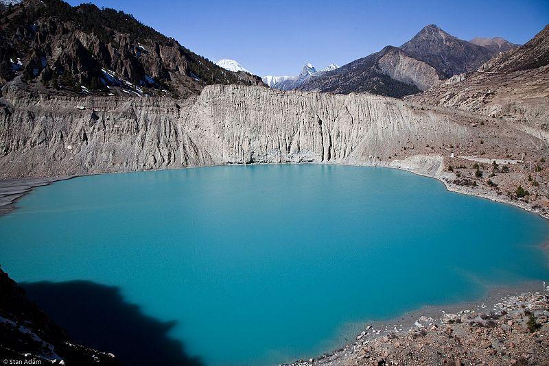 Manang Lake On Annapurna Circuit Trek Nepal Lake Landscape