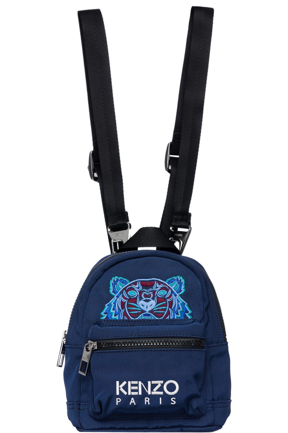 dc8c2429f4 Kenzo - Mini Tiger Canvas Backpacks - Navy Blue