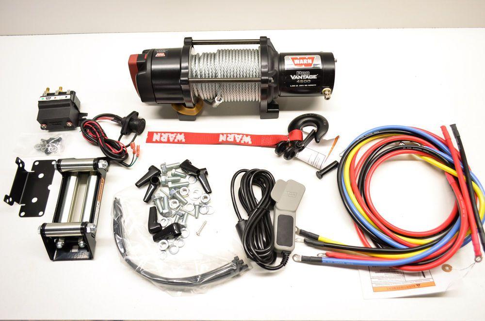 New Warn Provantage 4500lb Utv Atv Winch Kit Ebay Motors Parts Amp Accessories Atv Parts Ebay Atv Winch Atv Atv Parts