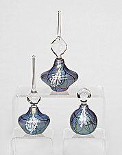 Blue Wisteria Perfume Bottle by Bryce Dimitruk (Art Glass Perfume Bottle)