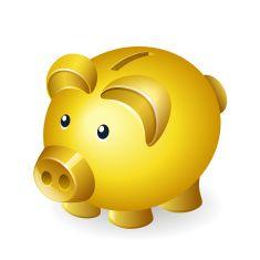 Piggy Bank Vector Art Illustration Pig Illustration