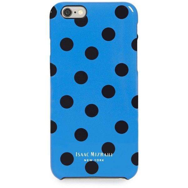 Isaac Mizrahi Blue Polka Dot iPhone 6 Case (22 CAD) ❤ liked on Polyvore featuring accessories, tech accessories, phone cases, phones, cases, electronics, blue headphones, isaac mizrahi, blue iphone case and pattern iphone case
