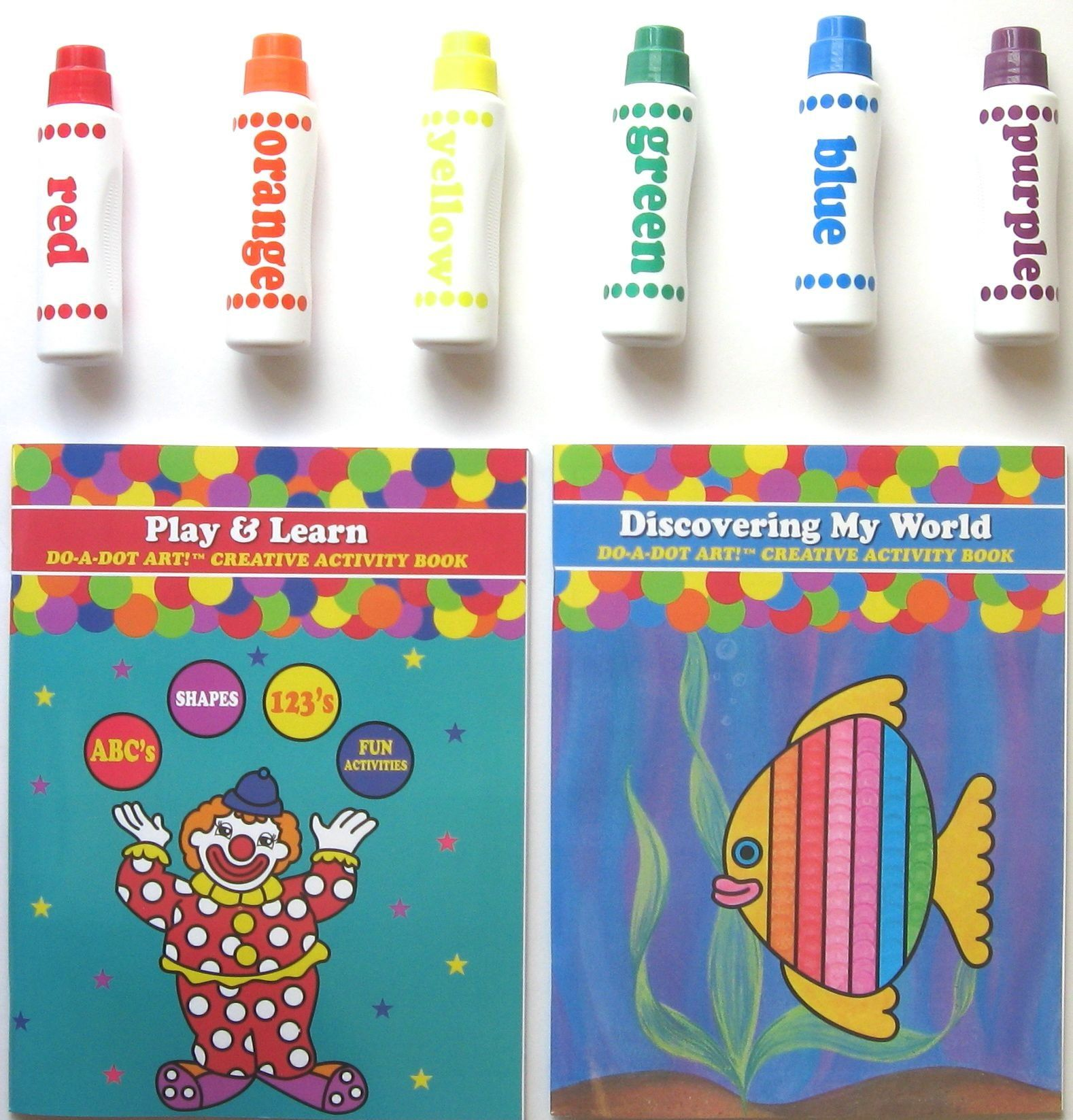 Do A Dot Art Marker T Set Of 2 Books And 6 Rainbow