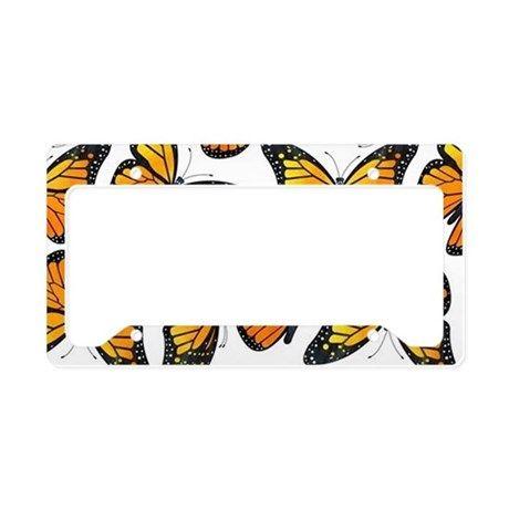 Lyingcat Mug Plate Holder Plaid License Plate Frames