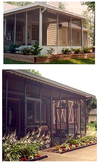 Enclosed patio screenroom kit diy enclosed patio kits for Screened in porch ideas for mobile homes