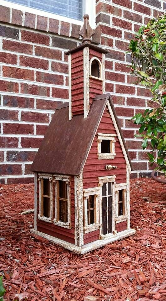 Little Country Schoolhouse Created By Jefferson Garvey Recycling Is For The Birds