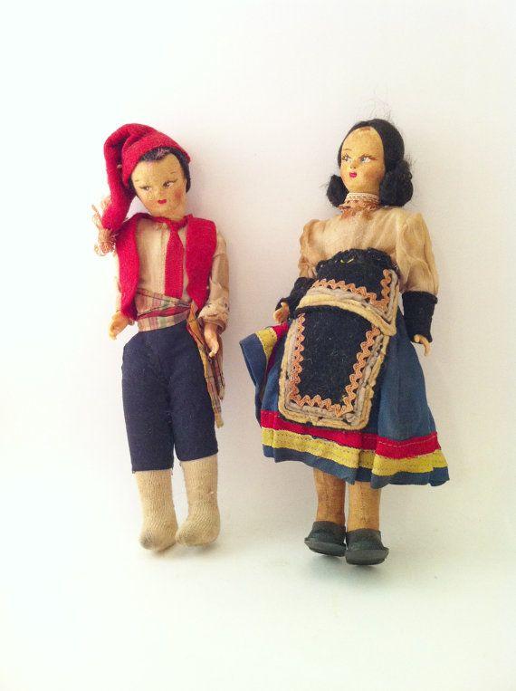 Vintage Italian Dolls Italy Sorrento Dolls Italian by Comforte, $13.00