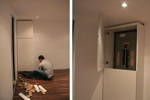 fabriquer le cache compteur comment cacher un compteur lectrique le cache compteur. Black Bedroom Furniture Sets. Home Design Ideas