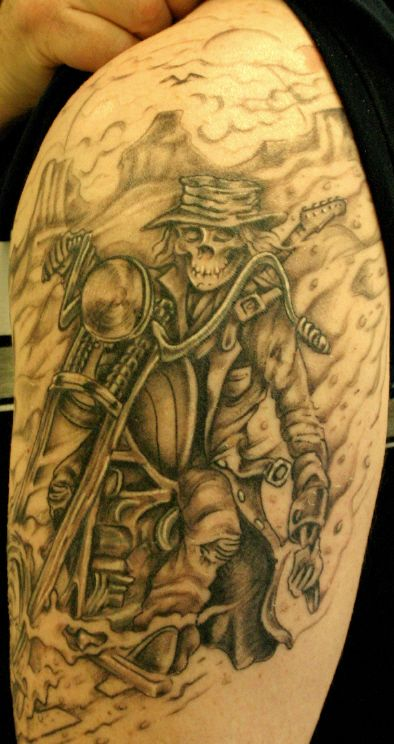 4f39a27e4 skeleton riding motorcycle tattoo - Google Search | tattoos ...