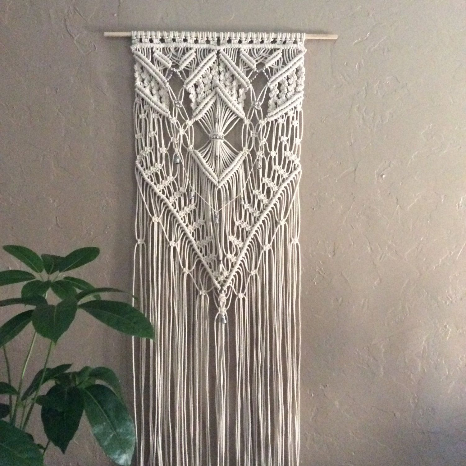 Large macrame wall hanging macrame boho wall decor garden art