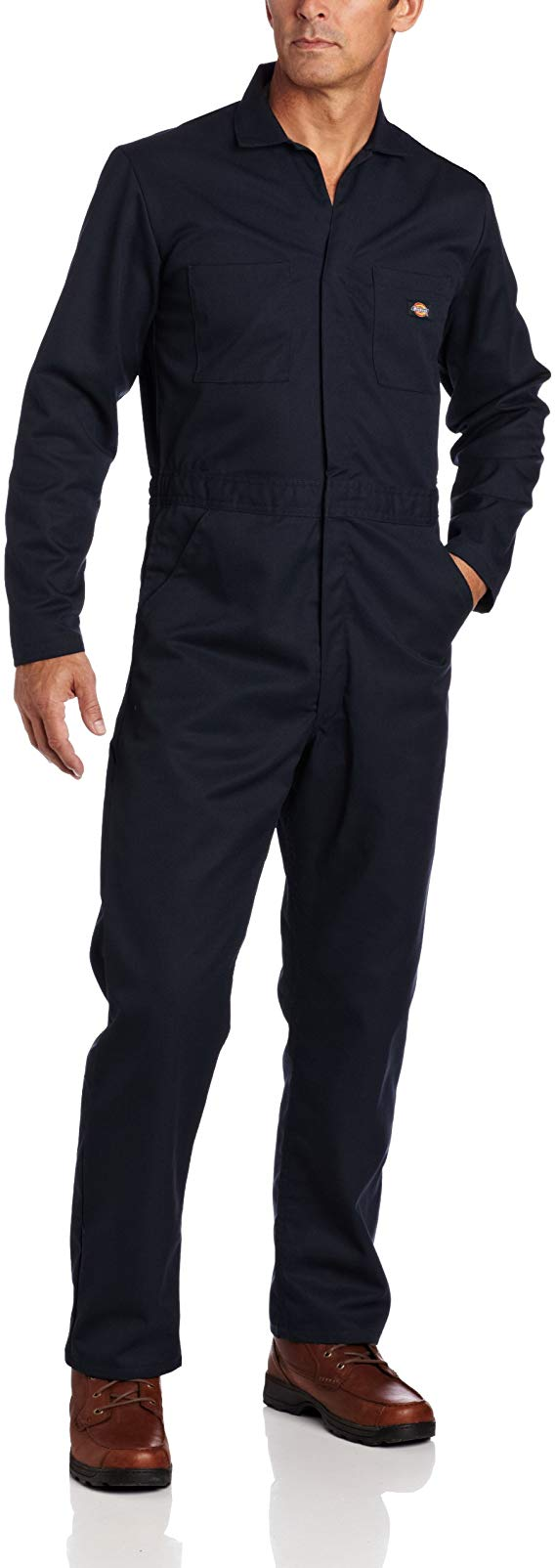 amazon com dickies men s basic blended coverall dark on best insulated coveralls for men id=29987