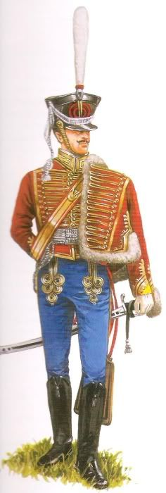 Russian Officers of the Sumsky Hussar
