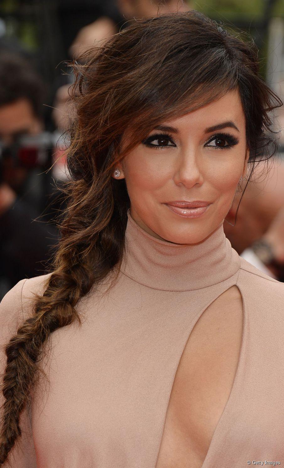 Eva Longoria Hairspiration 3 Sommerzopfe Zu Kopieren Geflochtene Frisuren Wellige Frisuren Coole Frisuren
