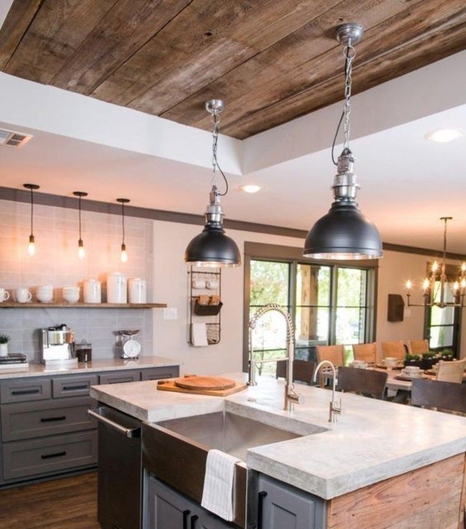 46 Awesome Rustic Wooden Ceiling Design Ideas | Wooden ...