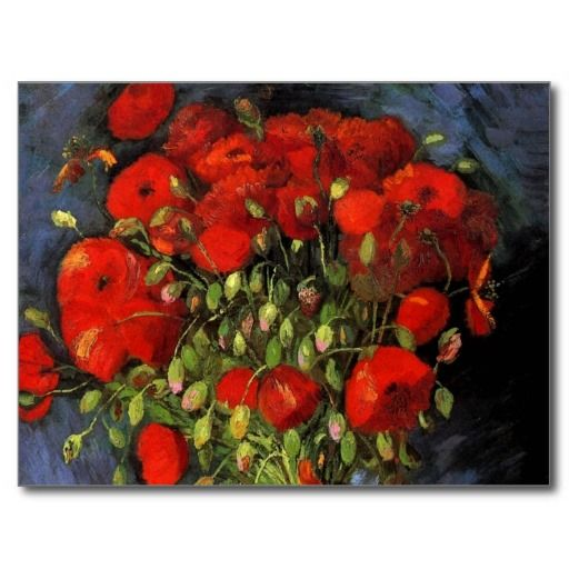 Van Gogh; Vase with Red Poppies, Vintage Flowers Postcard online after you search a lot for where to buyHow to          	Van Gogh; Vase with Red Poppies, Vintage Flowers Postcard Online Secure Check out Quick and Easy...