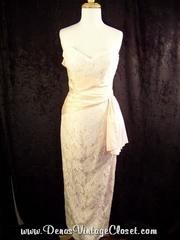 80s Strapless Ruched Prom...