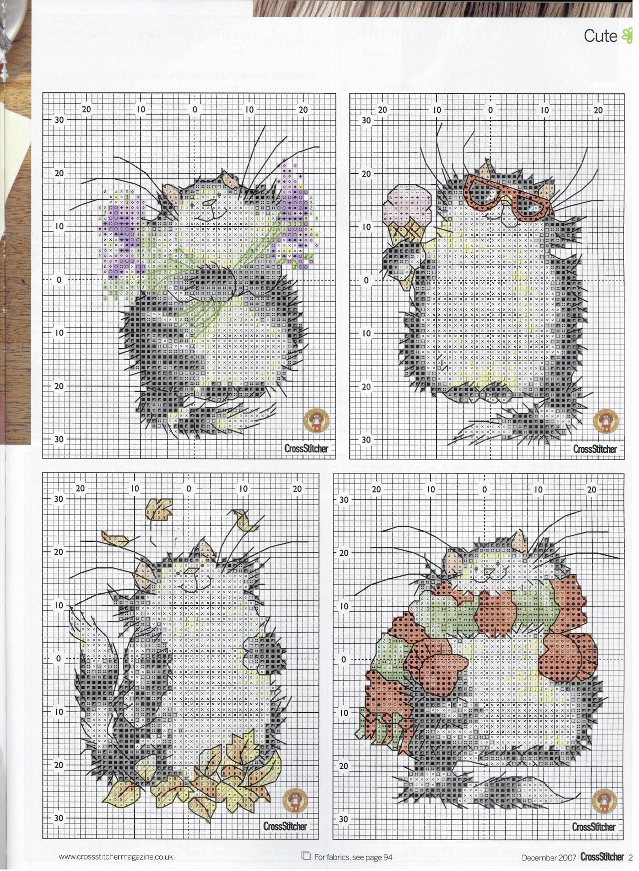 Cool Cats (Margaret Sherry) From Cross Stitcher N°194 December 2007 4 of 5