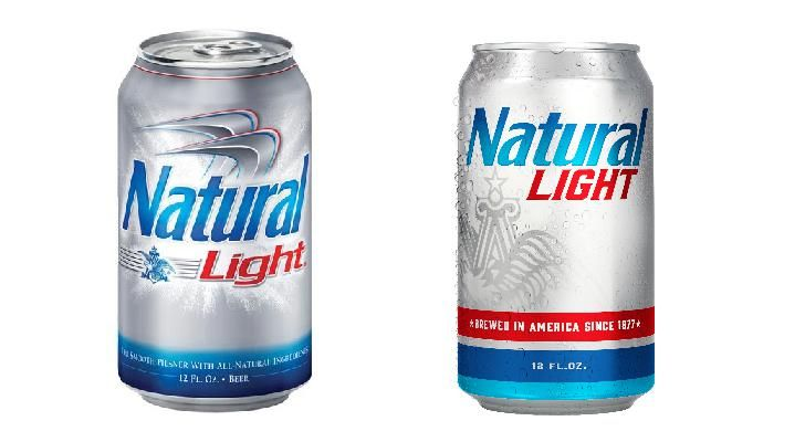 Natural Light Beer Gets New Look Beer Coors Light Beer Can Lite Beer