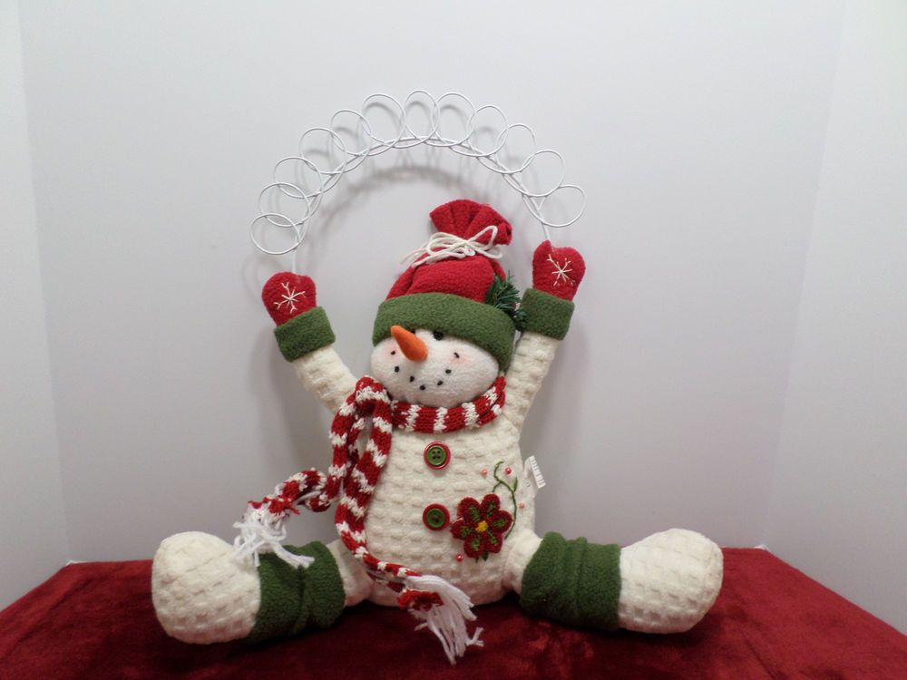 SNOWMAN STUFFED ANIMAL DECORATION BY JOANNE STORES CHRISTMAS