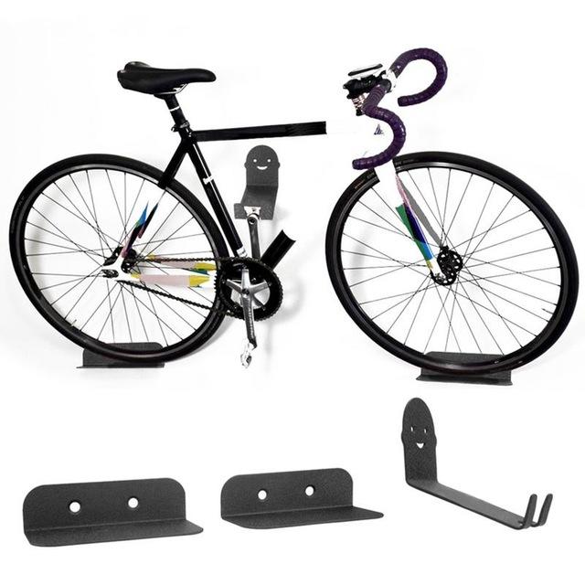 Bicycle Bike Wall Display Mount Hook Hanger Garage Storage Holder Rack Black US