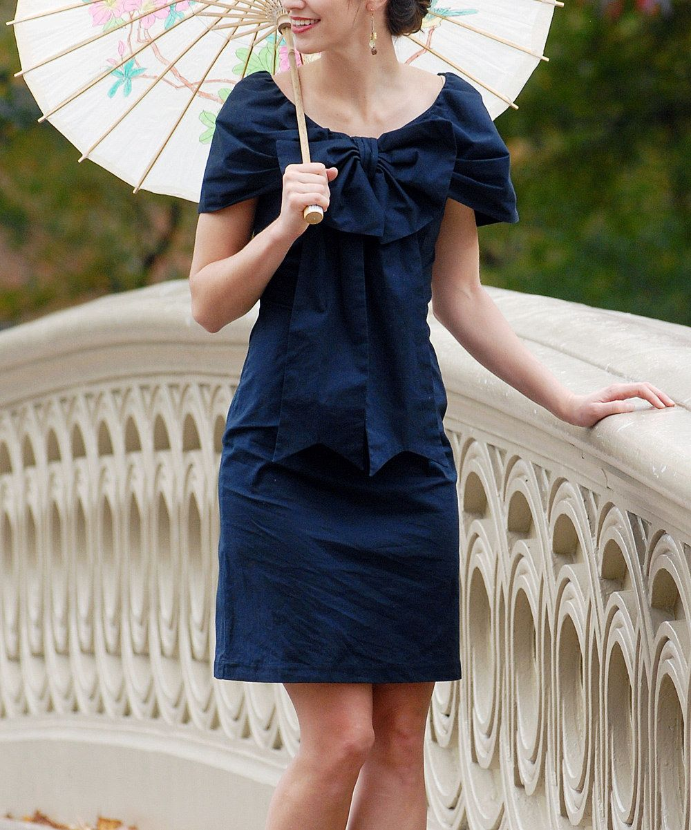00bcd8a0130 Look what I found on  zulily! Navy Bethesda Fountain Dress by Shabby ...