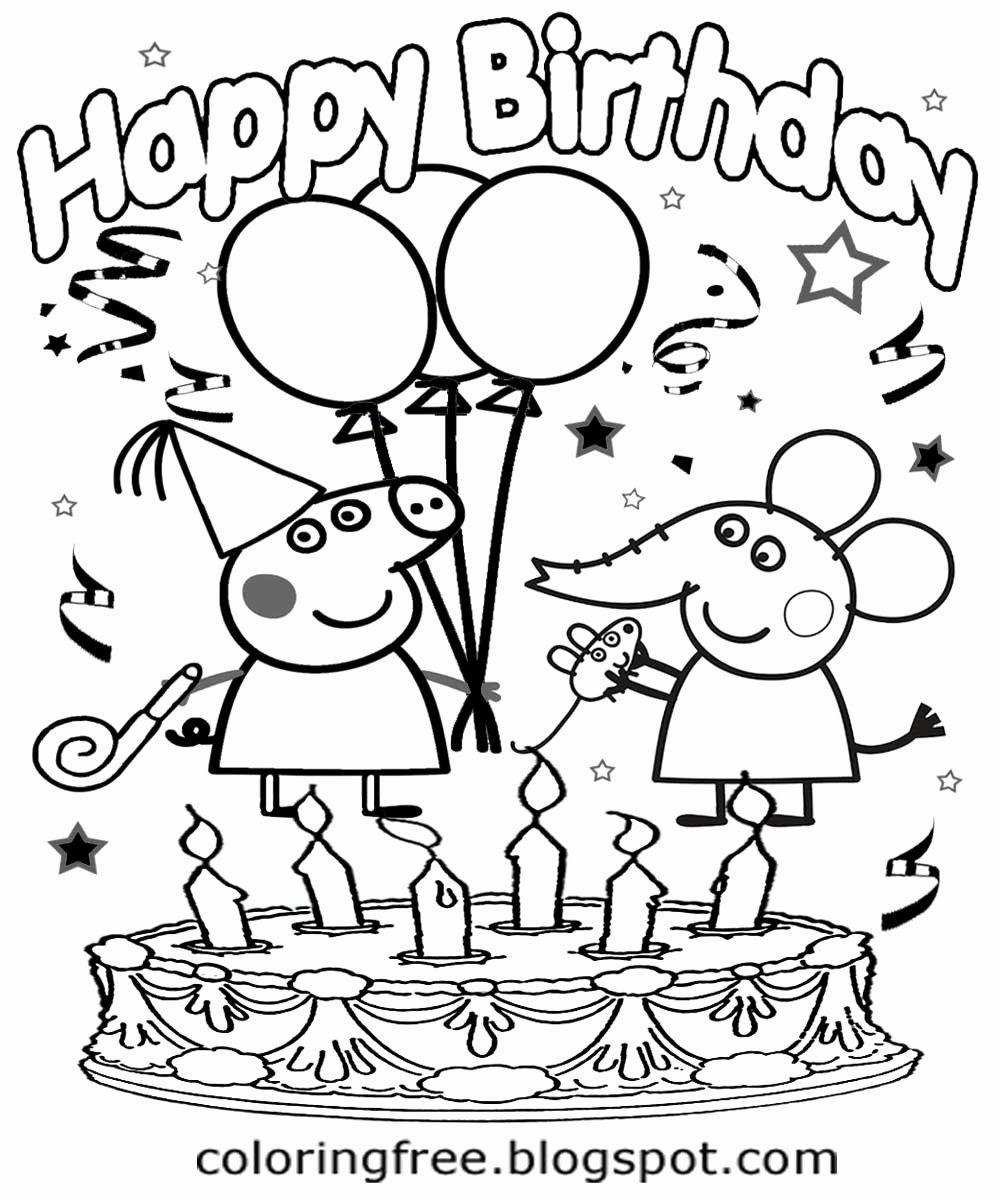 Happy Birthday Coloring Books Best Of Happy Birthday Peppa Pig Coloring Pages Co In 2020 Peppa Pig Coloring Pages Happy Birthday Coloring Pages Birthday Coloring Pages