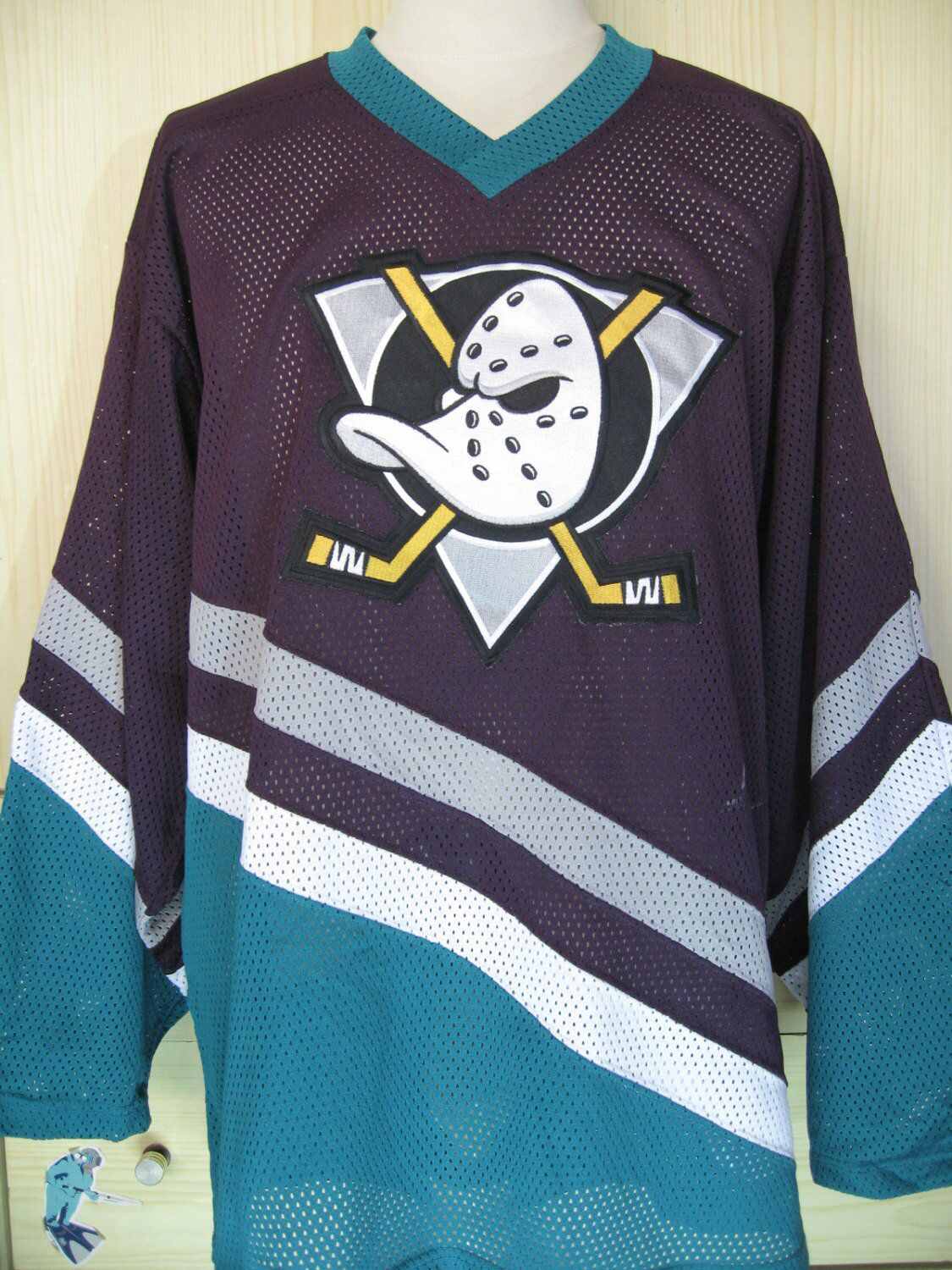 Excited to share the latest addition to my  etsy shop  Vintage 90s Anaheim  Mighty Ducks Home CCM Player Issue nhl ice hockey nhl jersey shirt long  sleeved ... 624c87cdb
