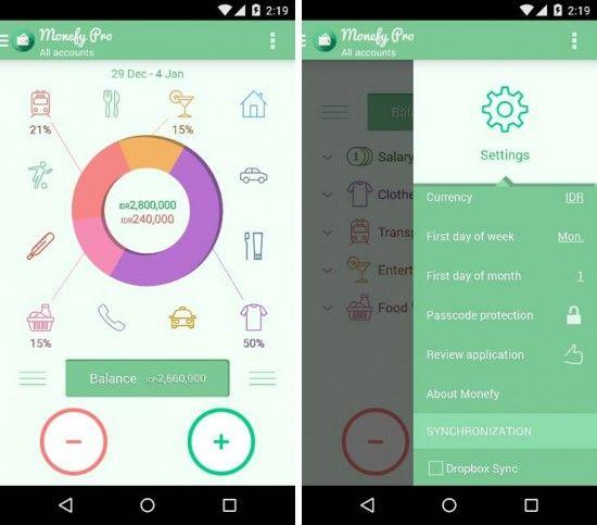 Monefy 8211 Atur Keuangan Harianmu Dengan Aplikasi Android Ini Http Www Aplikanologi Com P 32223 Finance Report Design Days Of Week