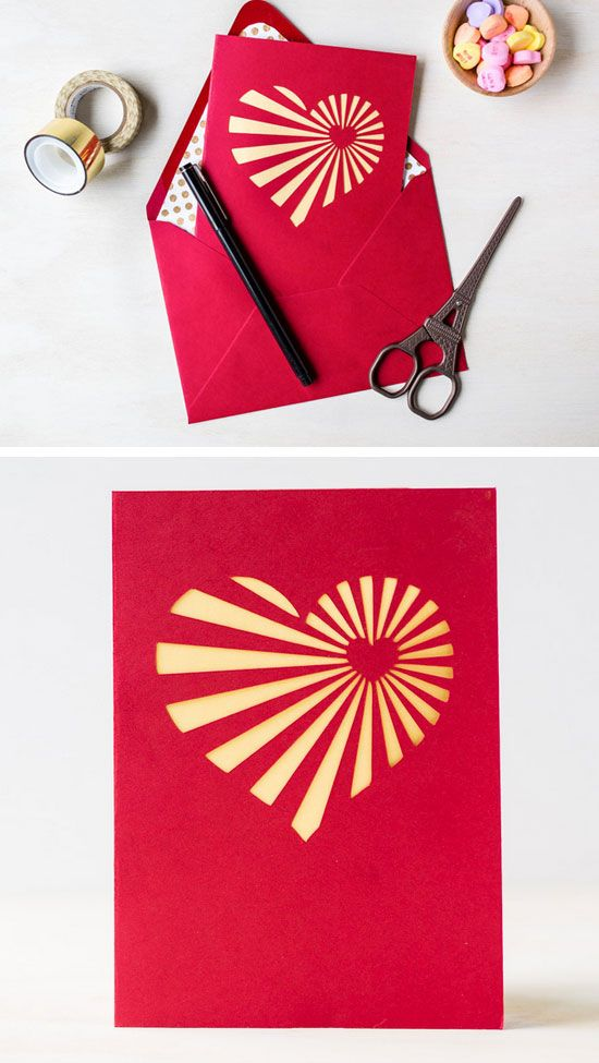 Diy Heartburst Valentine S Day Card Easy Valentines Cards For Kids To Make Him