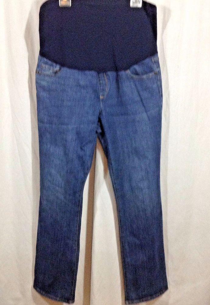 48b944d7c3436 Maternity Jeans Size 18 Liz Lange for Target Full Belly Panel Blue Spandex  #LizLange #StraightLeg #maternity #maternitystyle #maternityjeans #spandex  ...