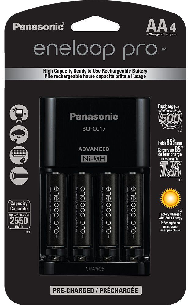 Panasonic K-KJ17KHCA4A Eneloop Pro Individual Cell Battery Charger