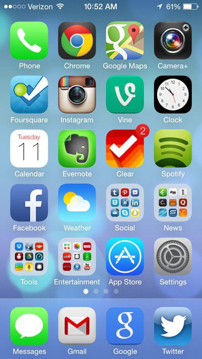 First Look A Visual Tour Of Apple S Ios 7 For Iphone Ios 7 Apple Ios Iphone